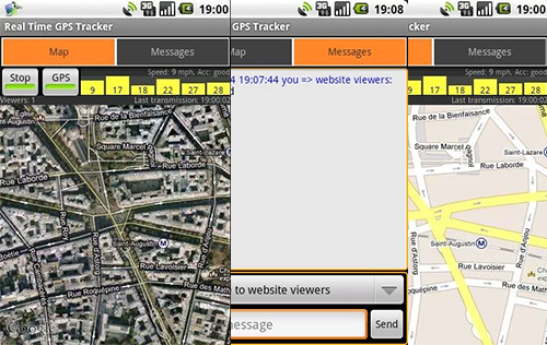 Aplikasi GPS Android Real-Time GPS Tracker